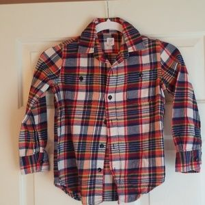 Boys Gap Kids Plaid Flannel Shirt - S